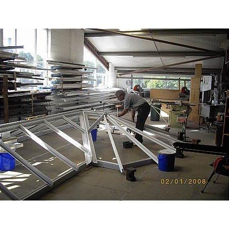 173 - Roof Light being made in the Factory