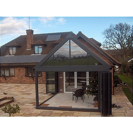 25 - Bi Fold Doors on both sides of a Conservatory