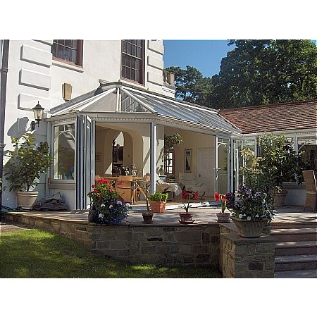 101 - Pitched Roof Conservatory With Visi Doors